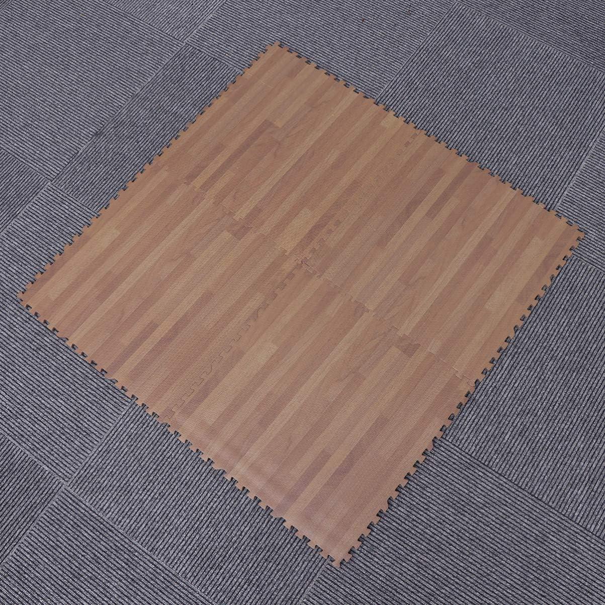 BESPORTBLE 4pcs 30x30cm Kids Puzzle Mat Floor Interlocking Soft Carpet Square Foam Sports Yoga Cushion Jigsaw Mat Gift for Home Rose Red Pink