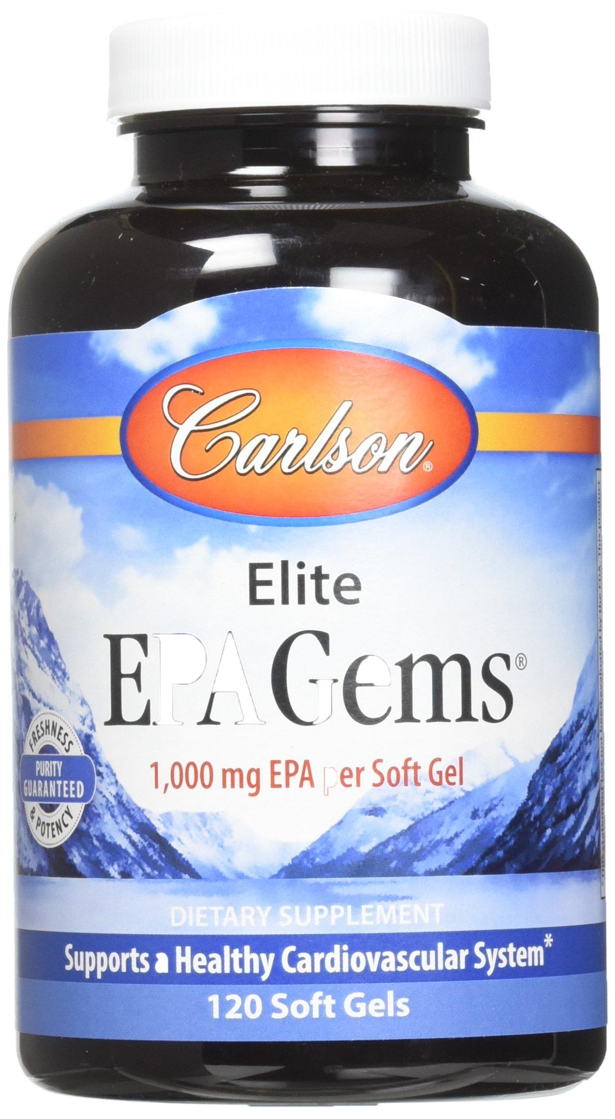Carlson Labs Elite EPA Gems Soft Gels, 120 Count