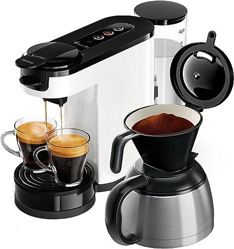 Senseo HD6592/00 - Cafetera (Independiente, Máquina de café en cápsulas, 1 L, De café molido, 1450 W, Negro, Blanco): Amazon.es: Hogar