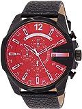 Diesel Men's DZ4323 Mega Chief Black Ip Leather Watch