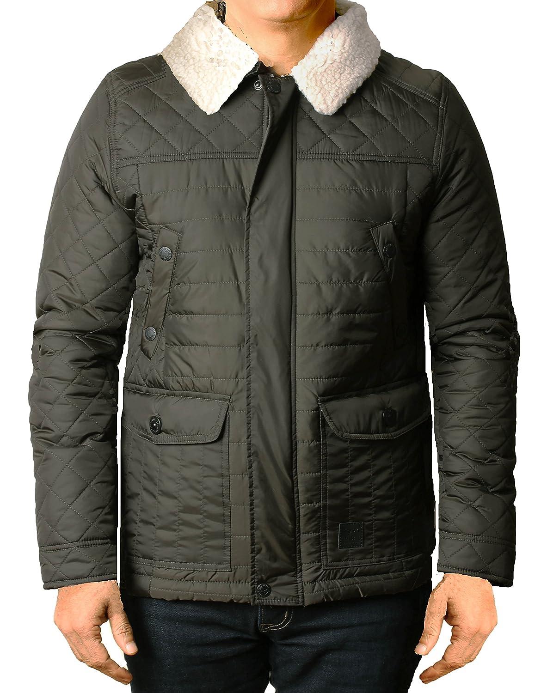 Mens Quilted Padded Jacket Threadbare Ringo Hunter Style Winter Coat DMV026
