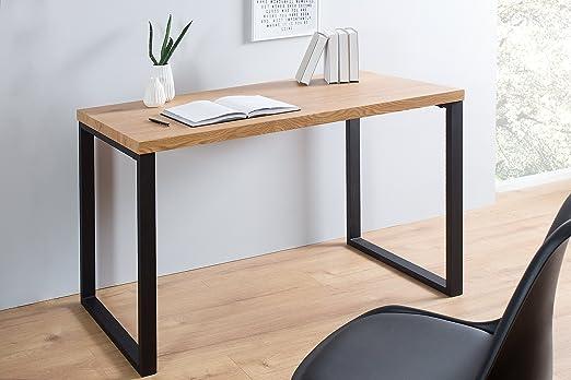 DuNord Design Escritorio Oficina Mesa 120 cm Roble Negro Mesa ...