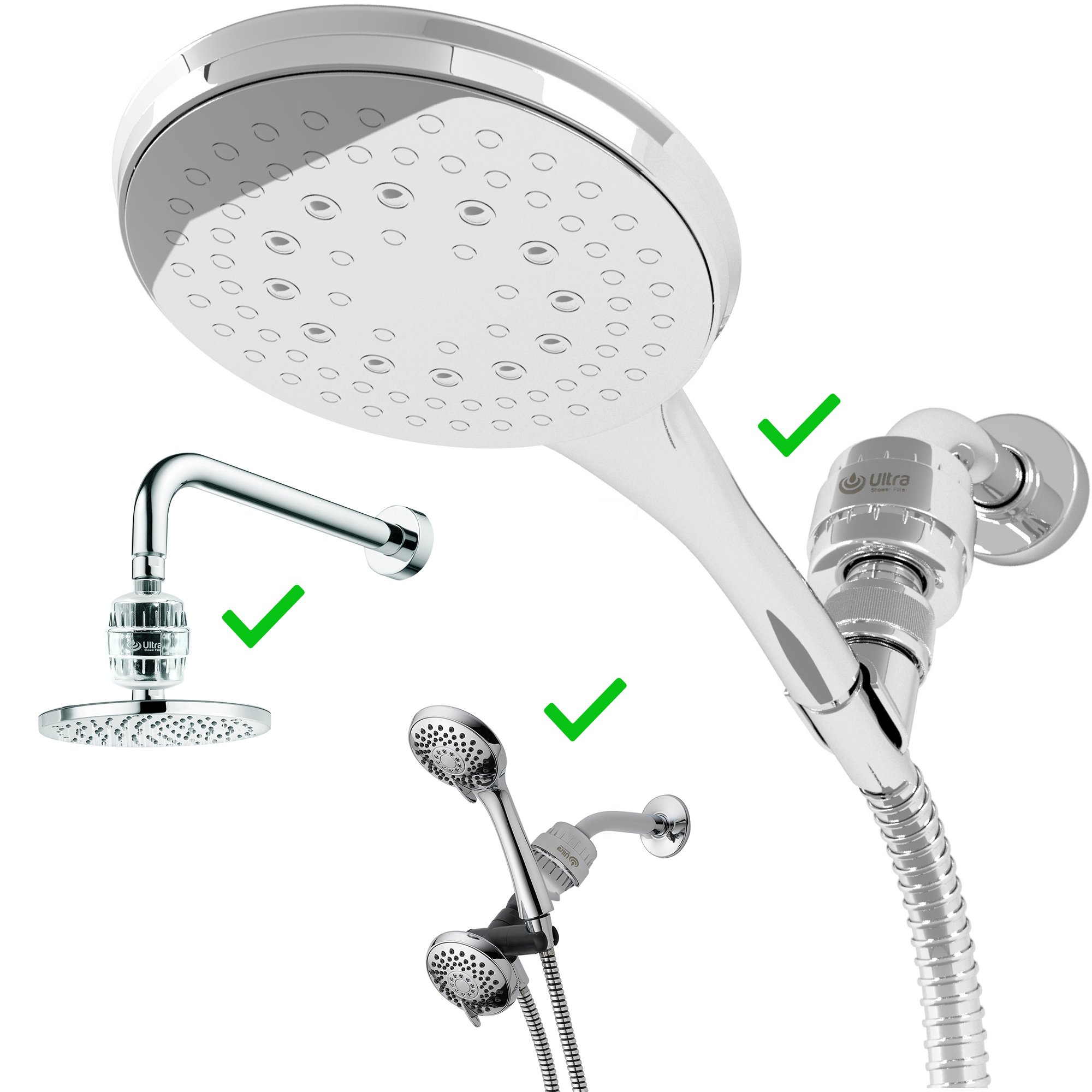 Ultra Shower Filter With 2 Replaceable 10 Stage Hard Water Purifier ...