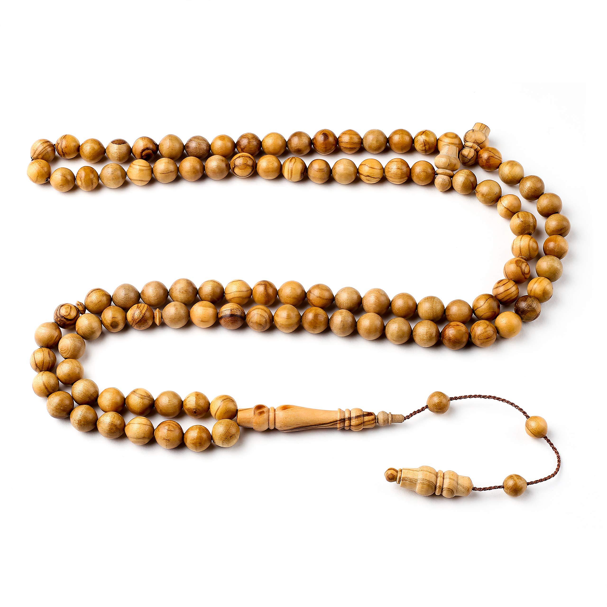 Handcrafted 10mm Blessed Olive Wood Premium Islamic Prayer Beads- INFINITYBEADS by BasmalaBeads- Tesbih- Tasbih- Sibha- Islamic Art