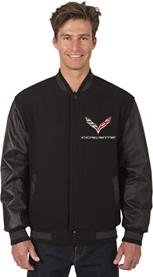 Jh Design Mens Chevy Corvette Jacket Lightweight Zip-Up Nylon Coat