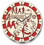 The Avengers Iron Man アイアンマンアベンジャーズ木製掛け時計ー完璧で美しく作られたー現代アートで自宅を飾ろうー彼と彼女にユニークなギフトーサイズ12インチ(30 ㎝)