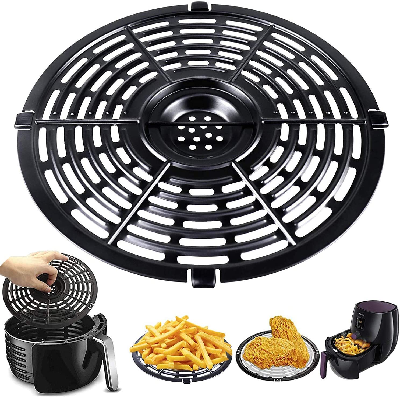 Air Fryer Replacement Grill Pan,Non-Stick Fry Pan Crisper Plate Suit For Gowise, Powerxl, Gourmia, Dash, Emeril Lagasse 5QT Air Fryers Crisper Plate,Dishwasher Safe Home Kitchen Tool(5QT)