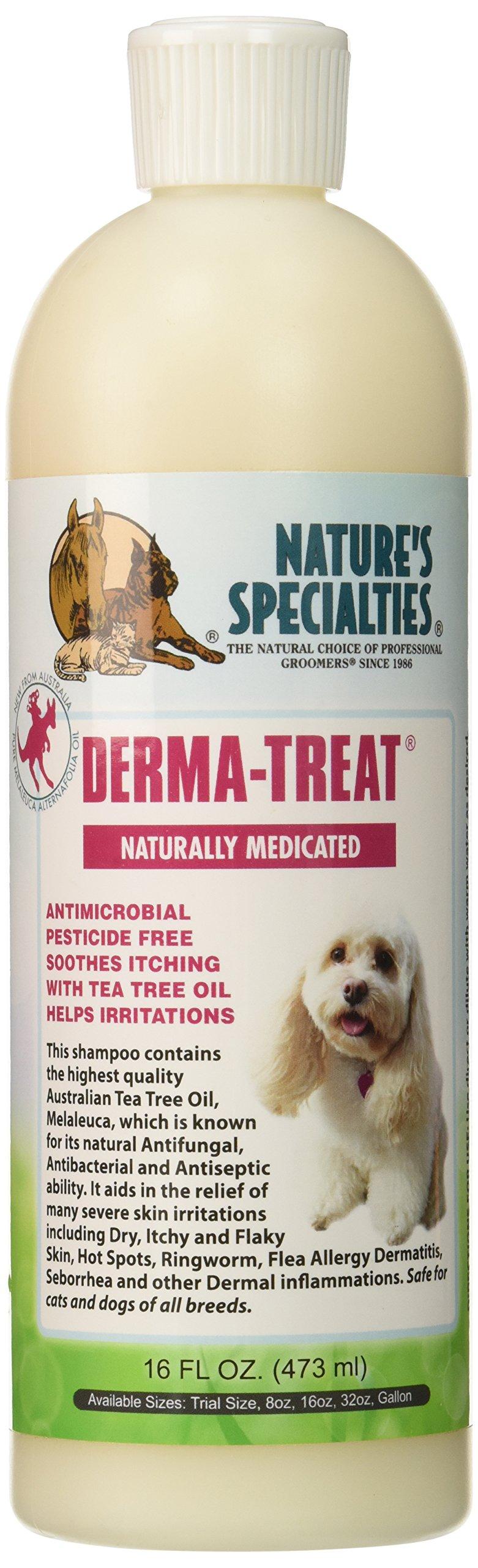 Nature's Specialties Derma Treat Pet Shampoo, 16-Ounce