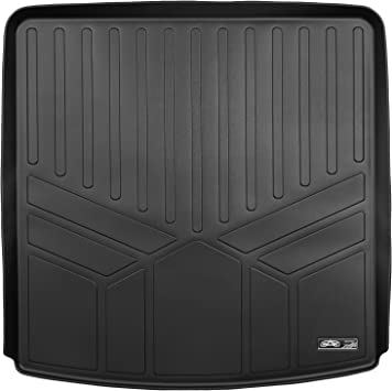 MAXLINER Floor Mats 2nd Row Liner Black for 2017-2018 GMC Acadia with 2nd Row Bench Seat