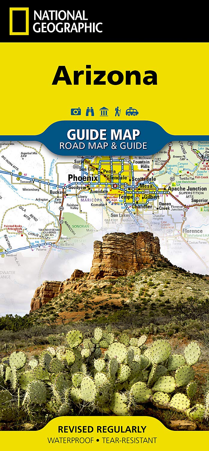 Arizona (National Geographic Guide Map): National Geographic Maps ...