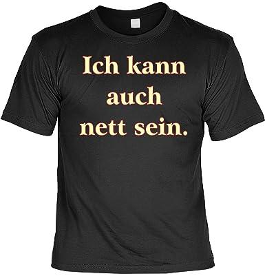 Sprüche Fun Tshirt Ich kann auch nett sein. Gr 3XL in schwarz : )