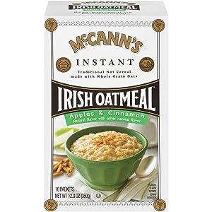 McCann's Apples & Cinnamon Instant Irish Oatmeal, 10 Count
