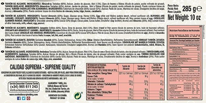 ⭐ Surtido de Turrones: Turrón de Alicante, Turrón de Guirlache y Turrón de Chocolate con Almendras | El Lobo: Amazon.es: Alimentación y bebidas