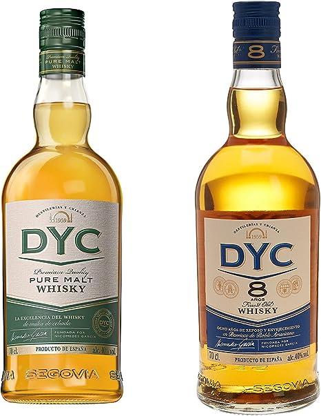 Dyc - Malta Estuchado 40% Botella 70 cl Whisky + Dyc - Whisky 8A, 40º, 0.7 L: Amazon.es: Alimentación y bebidas