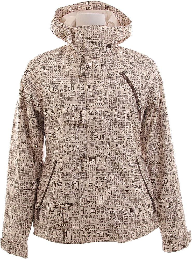 Amazon Com Burton Dream Snowboard Jacket Chestnut Paper Print Womens Sz S Clothing