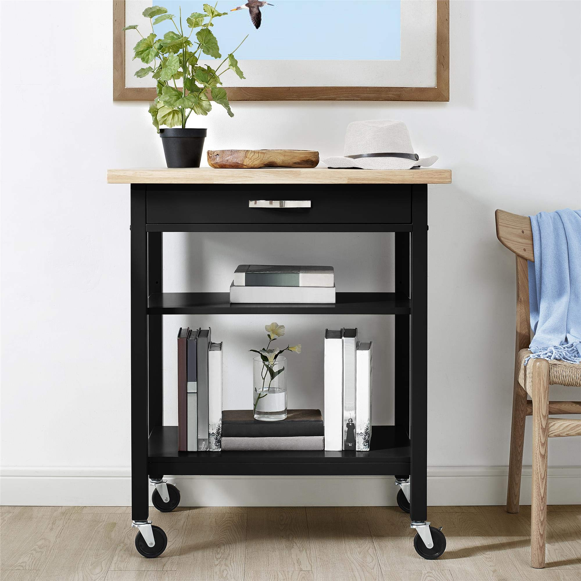 Dorel Living DL7618B Hogan Multifunction, Black Kitchen Carts,