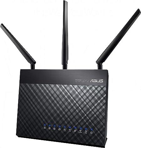 ASUS RT-AC68U Router Gaming inalámbrico AC1900 Dual-band Gigabit (punto de acceso/repetidor, USB, soporta 3G/4G, compatible con Ai Mesh wifi), Negro