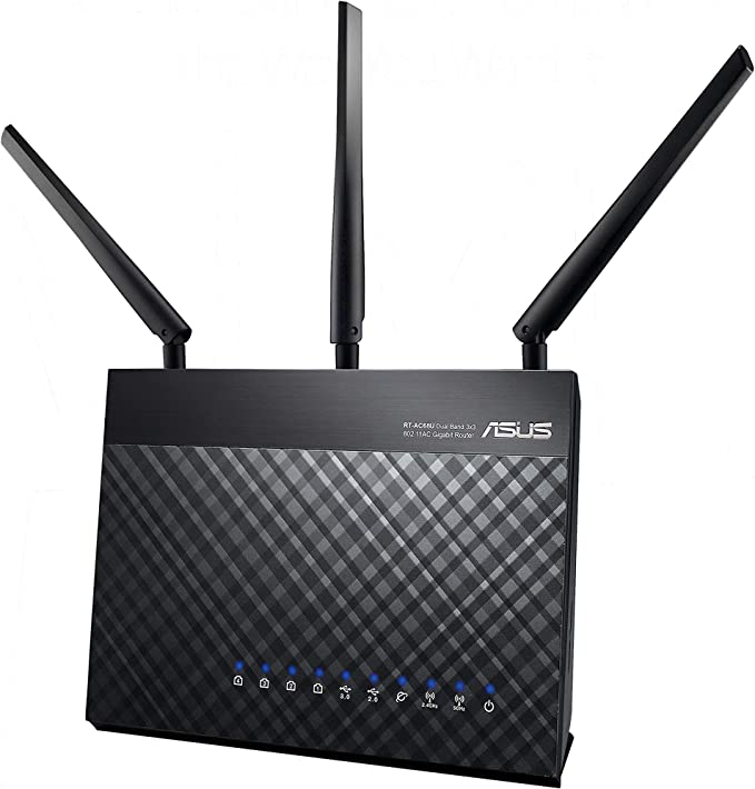 ASUS RT-AC68U Router Gaming inalámbrico AC1900 Dual-band Gigabit (punto de acceso/repetidor, USB, soporta 3G/4G, compatible con Ai Mesh wifi), Negro: Asustek: Amazon.es: Informática