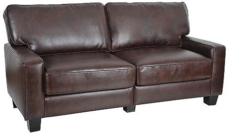 "Amazon.Com: Serta Rta Palisades Collection 73"" Bonded Leather Sofa"