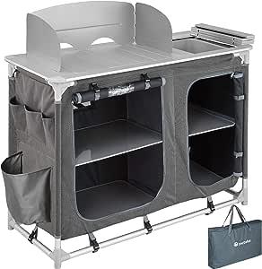 TecTake 800585 - Cocina de Camping, Aluminio, Ligera, Plegable - Varios Modelos