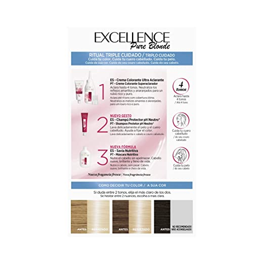 Amazon.com: EXCELLENCE Creme #03 rubio ultra claro ceniza ...