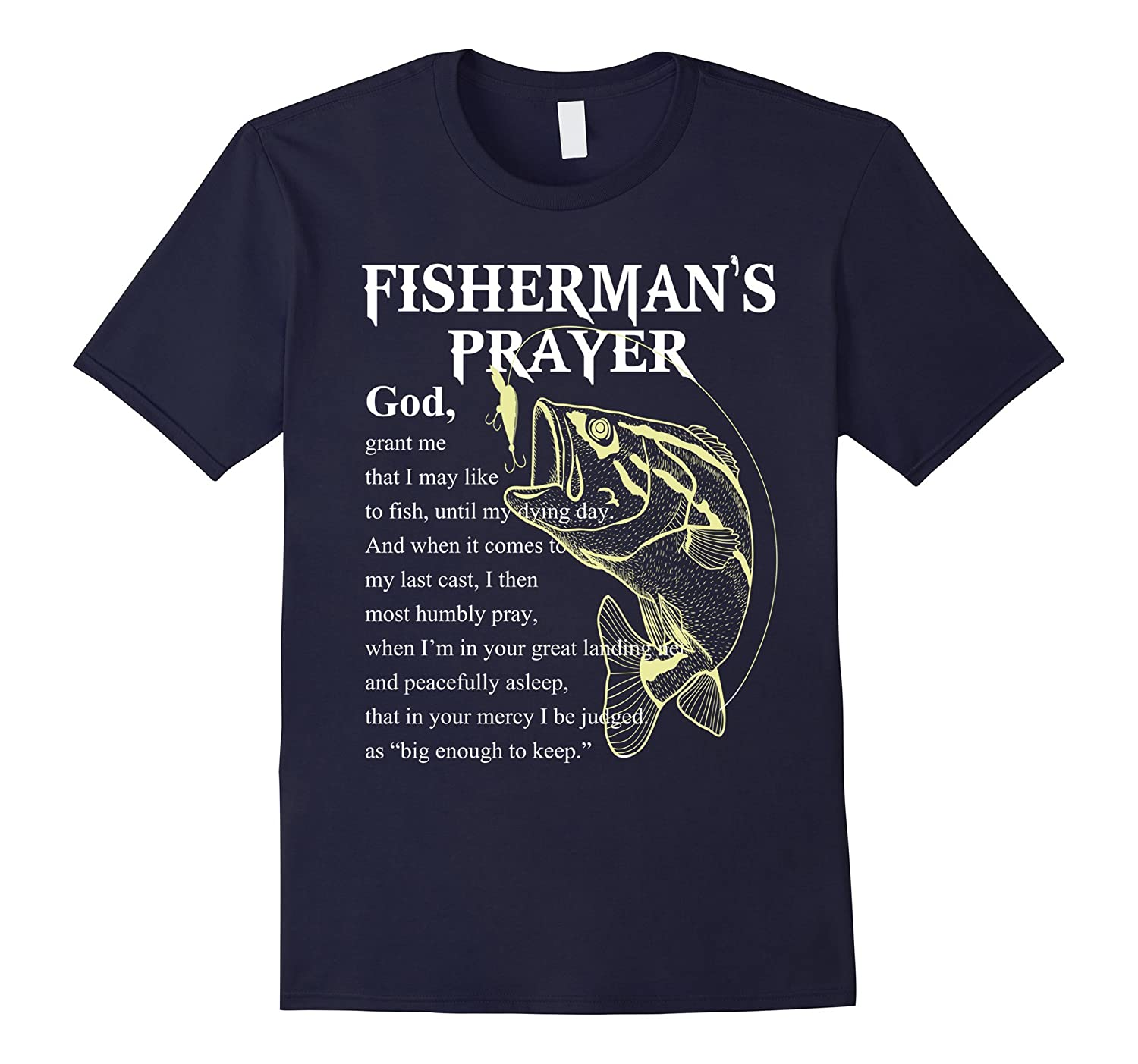 Fisherman S Prayer T Shirt Funny Fishing Shirt Anz Anztshirt