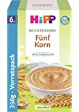 Hipp Bio-Getreidebreie Fünf Korn, 4er Pack (4 x 350g)