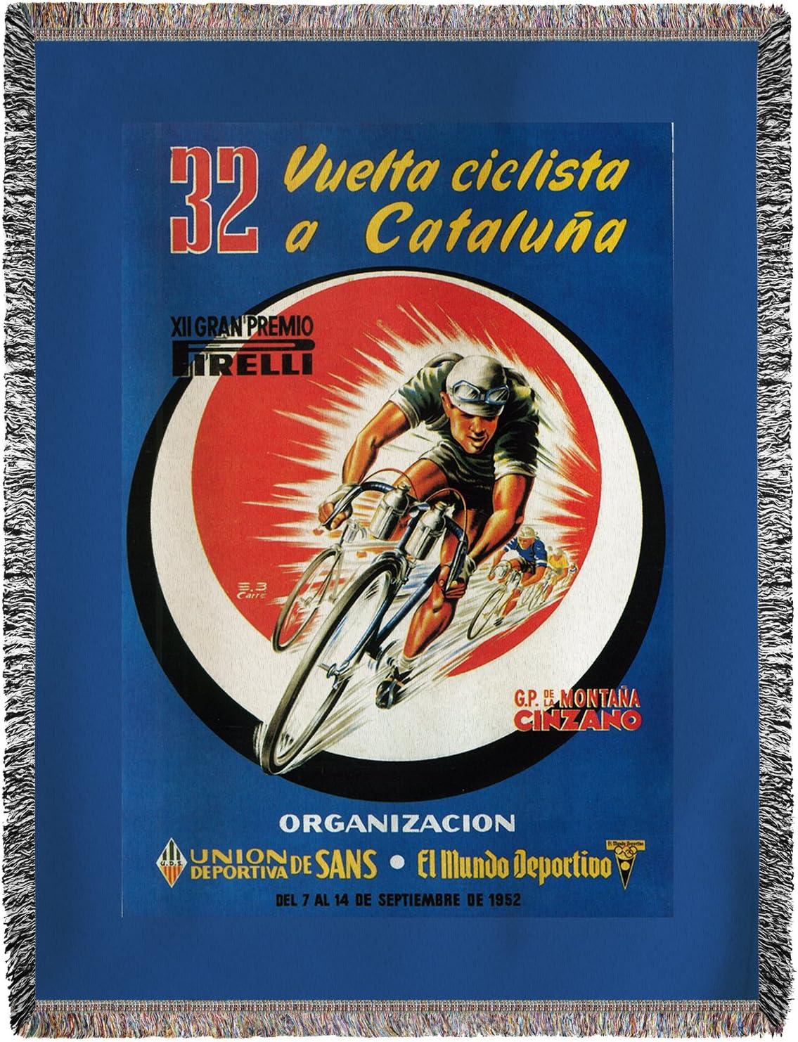Carreras de bicicleta – Vintage anuncio (60 x 80 manta de chenilla ...