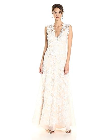 Tadashi Shoji Wedding.Tadashi Shoji Women S Cecila Wedding Dress Amazon Co Uk