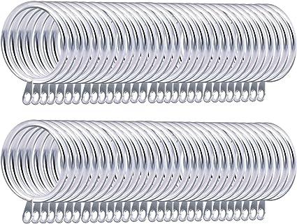 Senteen Anelli Tende Metallo 60PCS Anelli Asta Tende Accessori per Tende e Tendine,Argento 30mm Diametro Interno
