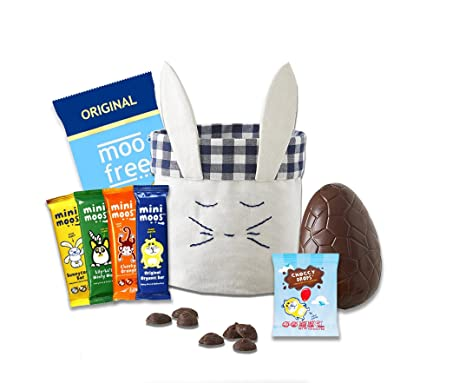 Moo free easter hamper with bunny basket gluten free dairy free moo free easter hamper with bunny basket gluten free dairy free chocolates and easter negle Gallery