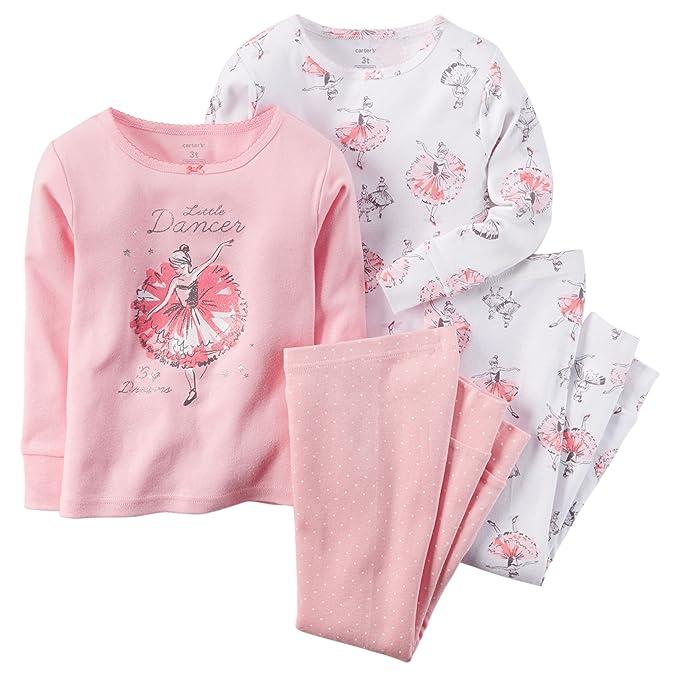 Carters - Pijamas enteros - para bebé niña Rosa PJ4Hedge4T 12-18 meses