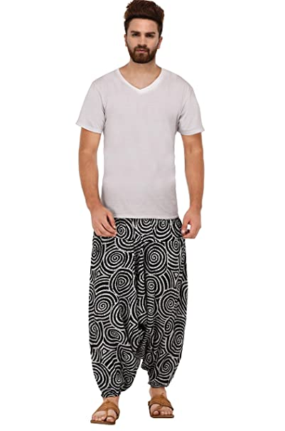 Men Gypsy Hemp Cotton Aladdin Harem Pant Hippie Baggy Yoga Handmade Boho Trouser
