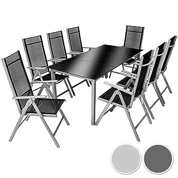 Amazon.de: TecTake Aluminium Sitzgarnitur 8+1 Sitzgruppe Gartenmöbel ...