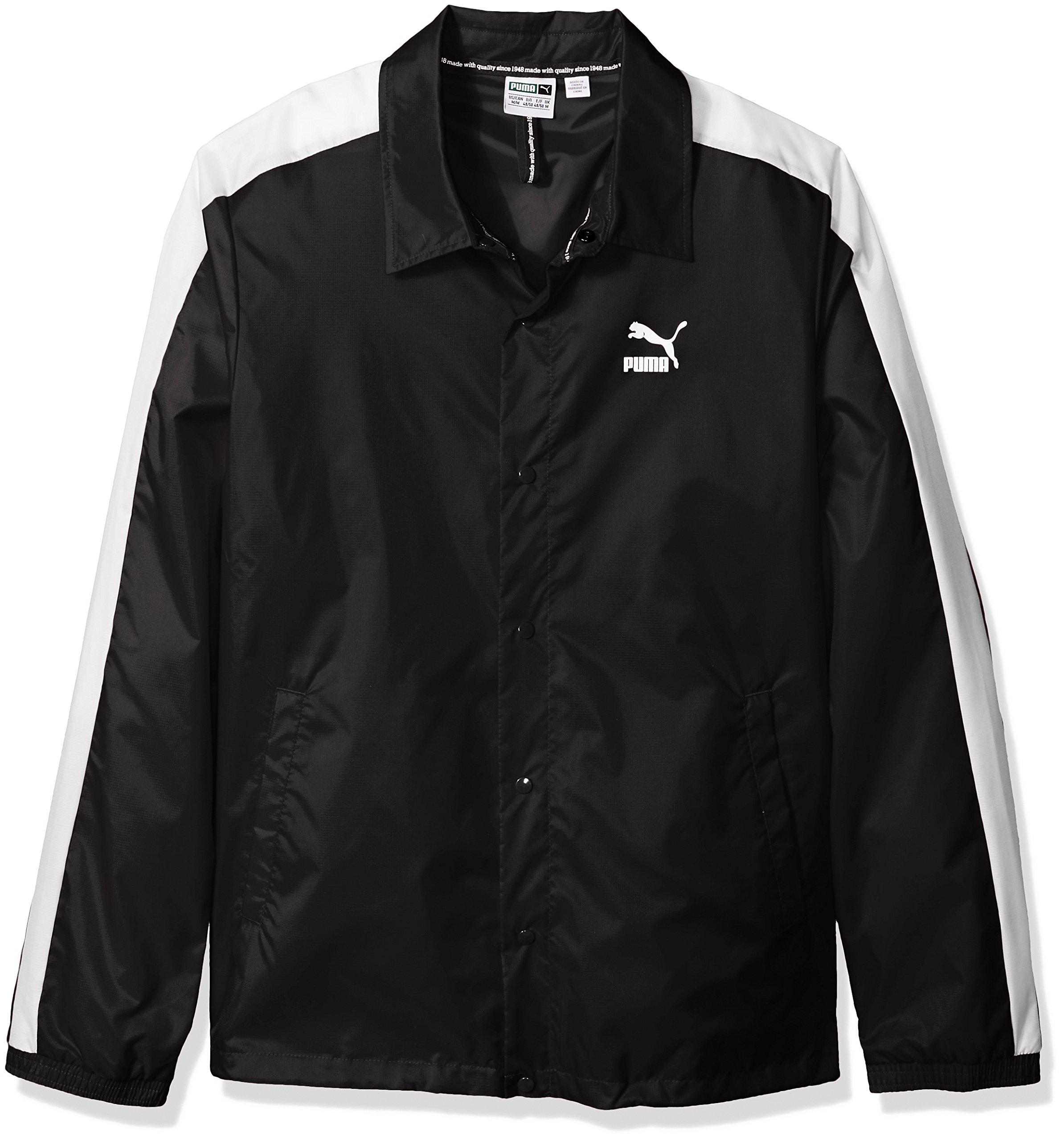 PUMA Men's Archive Coach Jacket, Black, XXL
