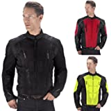 Viking Cycle Warlock Motorcycle Mesh Jacket (Black, Large)