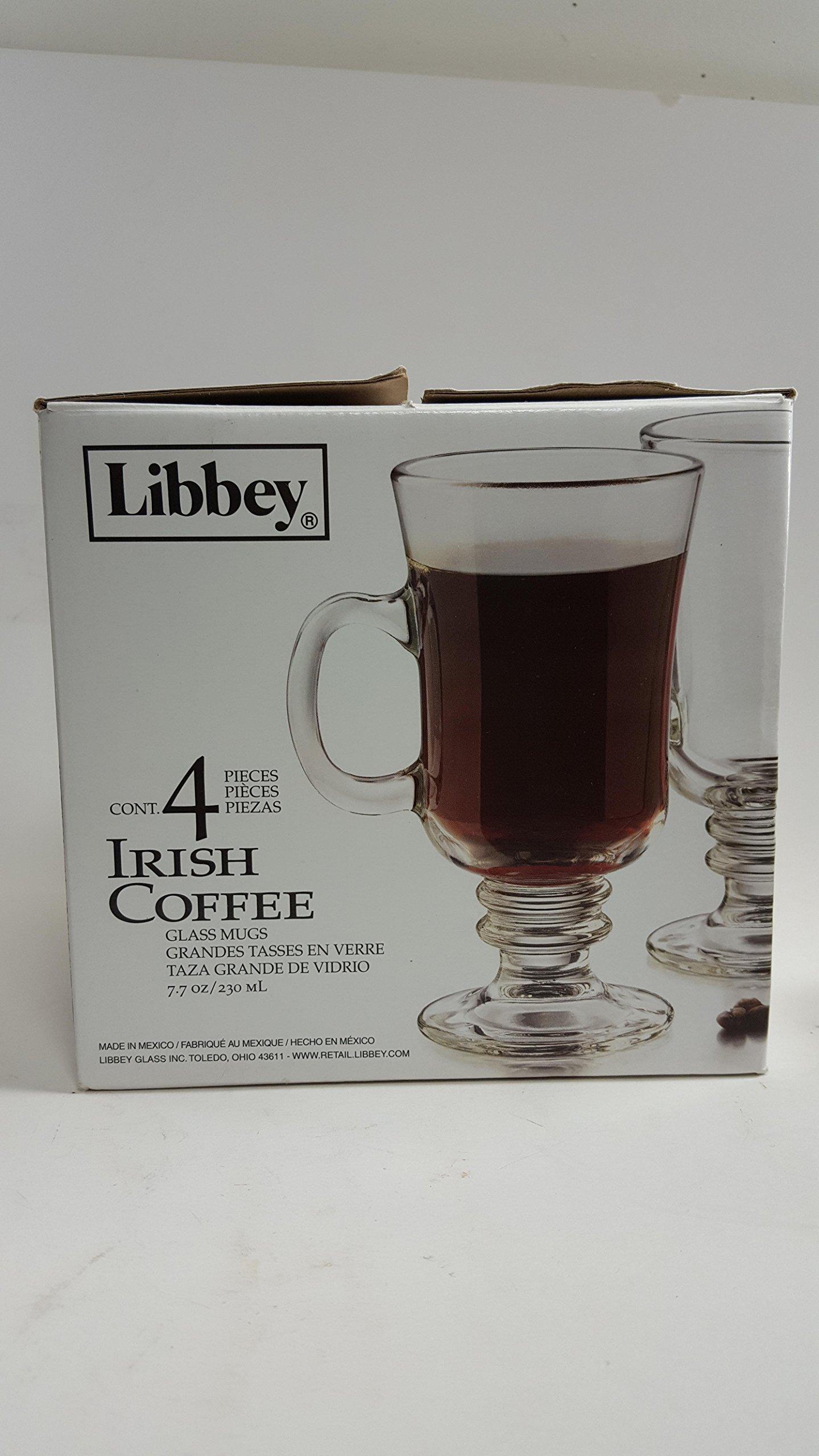 Libbey 7.7 Ounce Irish Coffee Mug, 4-Piece Set