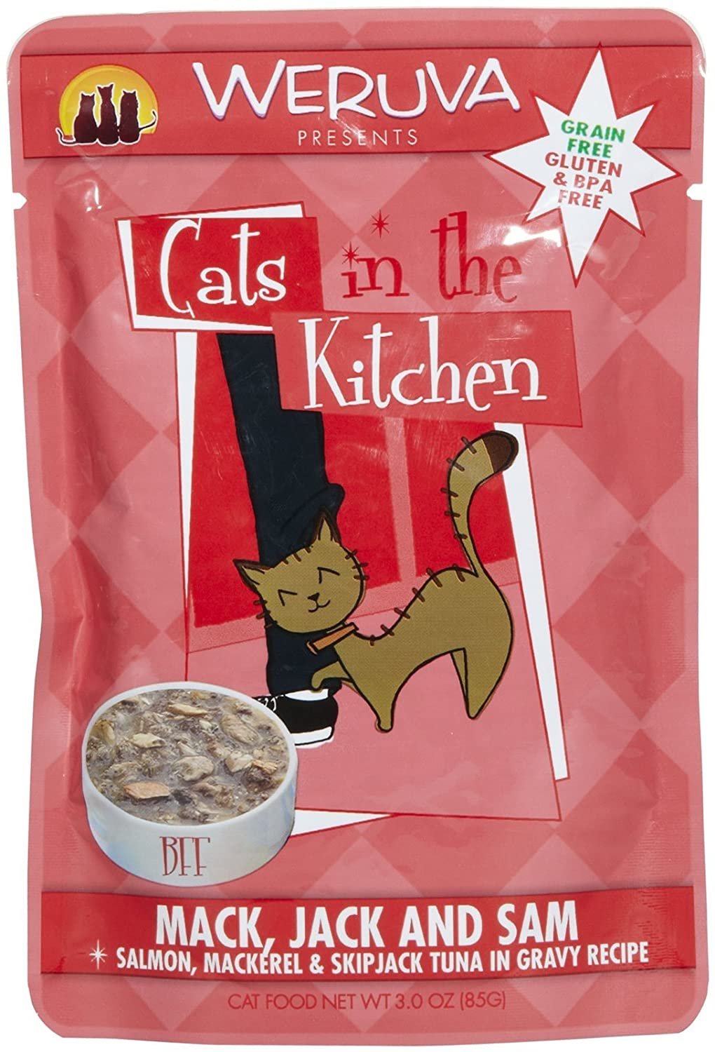 Mack, Jack and Sam Wet Cat Food , 3-Ounce Pouches