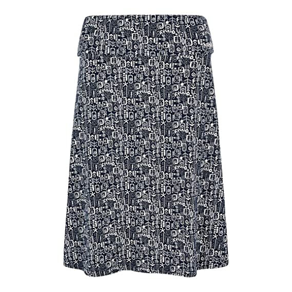 69e3f0b499 Weird Fish Malmo Printed Jersey Skirt: Amazon.co.uk: Clothing