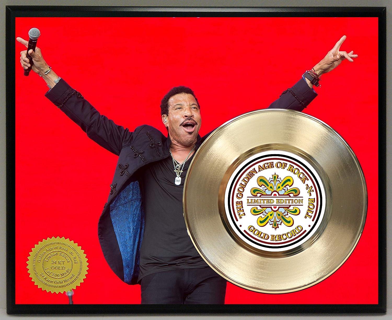 G.A.R.R. Lionel Richie ゴールドレコードポスター アート 限定版 記念 音楽 記念 ディスプレイ 飾り板 B07PPJY7MQ