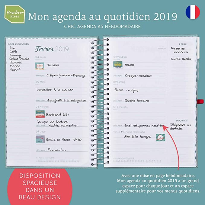 Boxclever Press Mon Agenda au Quotidien 2018/2019 ...