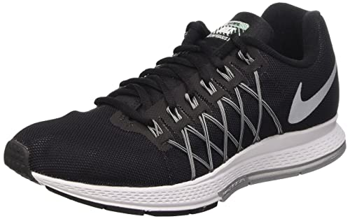 Nike Air Zoom Pegasus 32 Flash, Men's Sports Shoes, Black/Plata/Gris