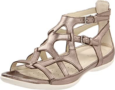 dda4bb64f7ff9 ECCO Women's Flash Gladiator Sandal,Warm Grey Metallic,42 EU/11-11.5
