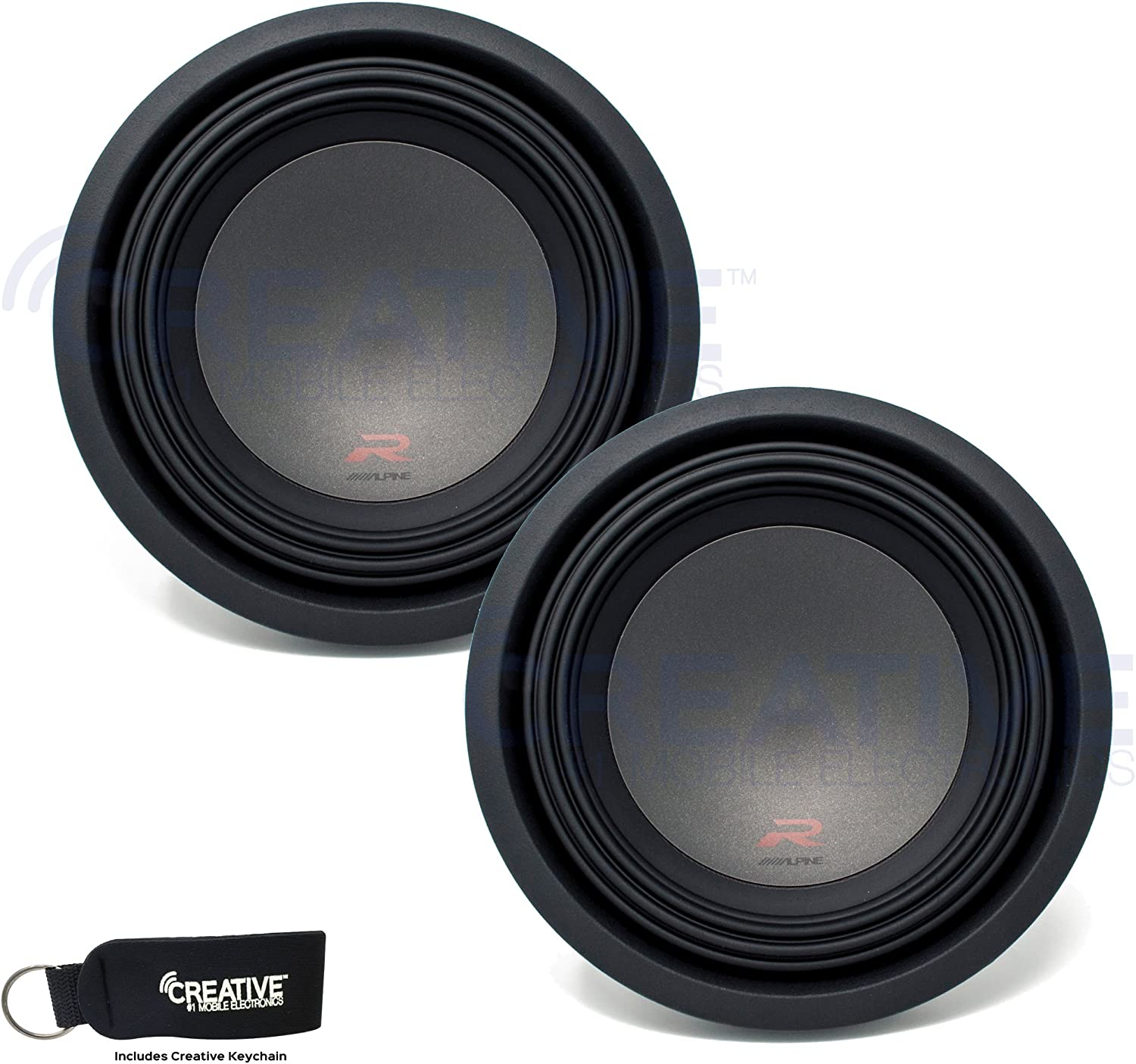 Alpine Two R-W10D2 R-Series 10-Inch Dual Subwoofers bundle