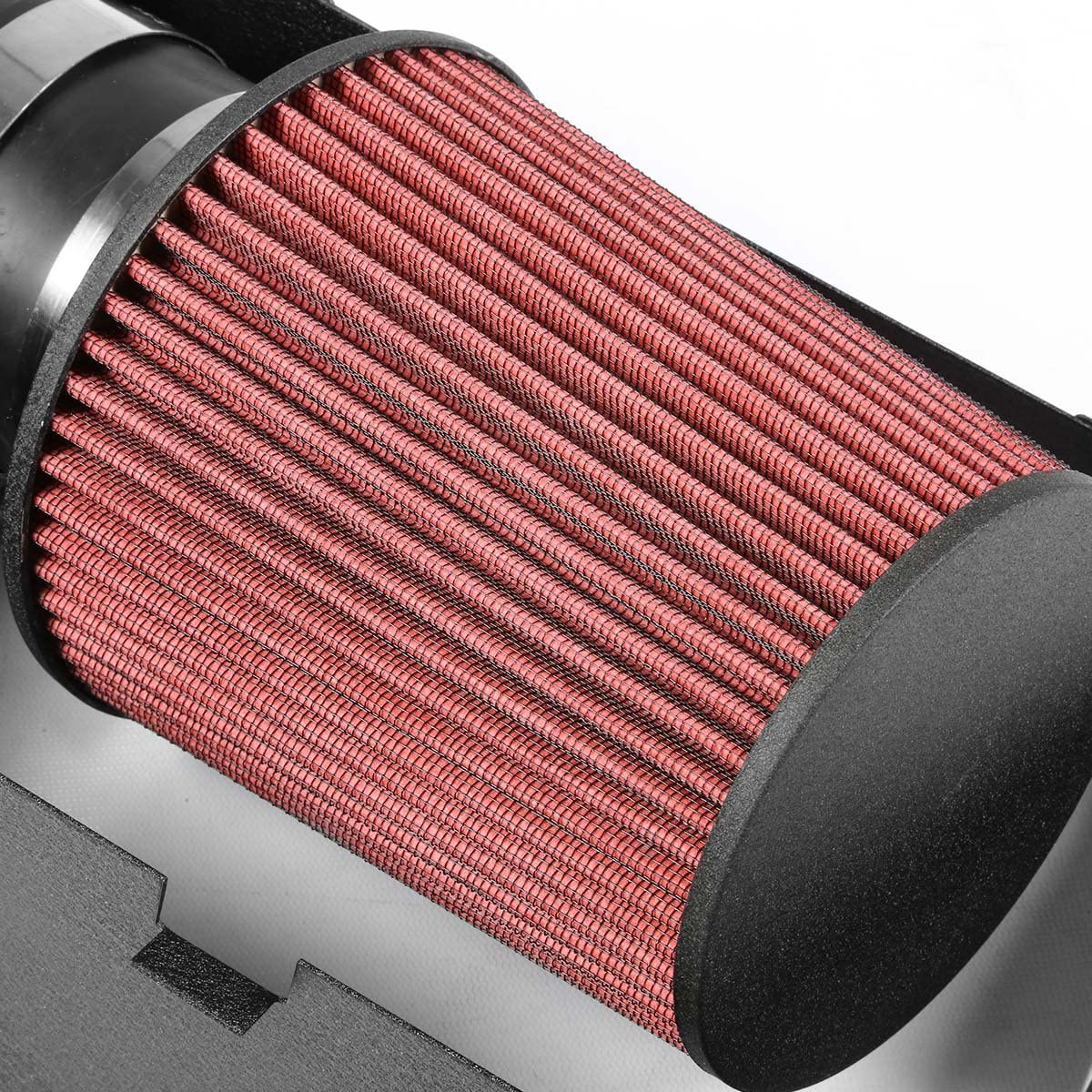 DNAMotoring AIP-2-HS-DMAG05V8-BKBK Cold Air Intake System and Heat Shield