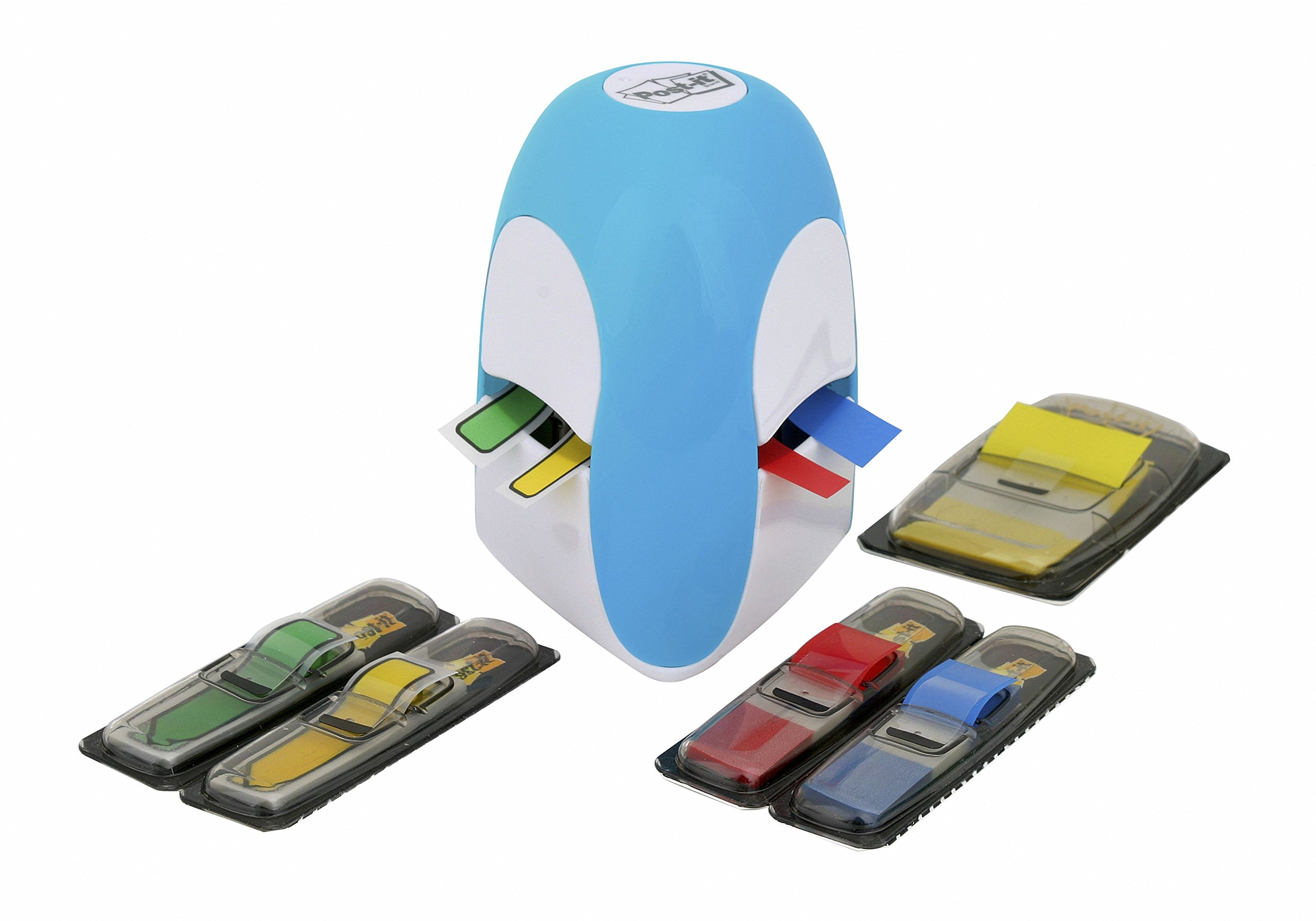 Post-It Index Tridex Blue Dispenser with 5 Packs of Flags