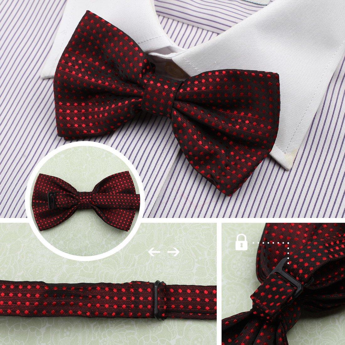DBE0167 Groomsmen Pre-Tied Microfiber Bow ties Popular For Teen 3 Pack Bow Tie Set By Dan Smith by Dan Smith (Image #4)
