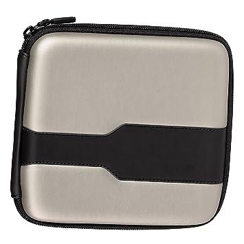 Hama CD Tasche Metallic 24 silber/schwarz: Amazon.de: Computer & Zubehör