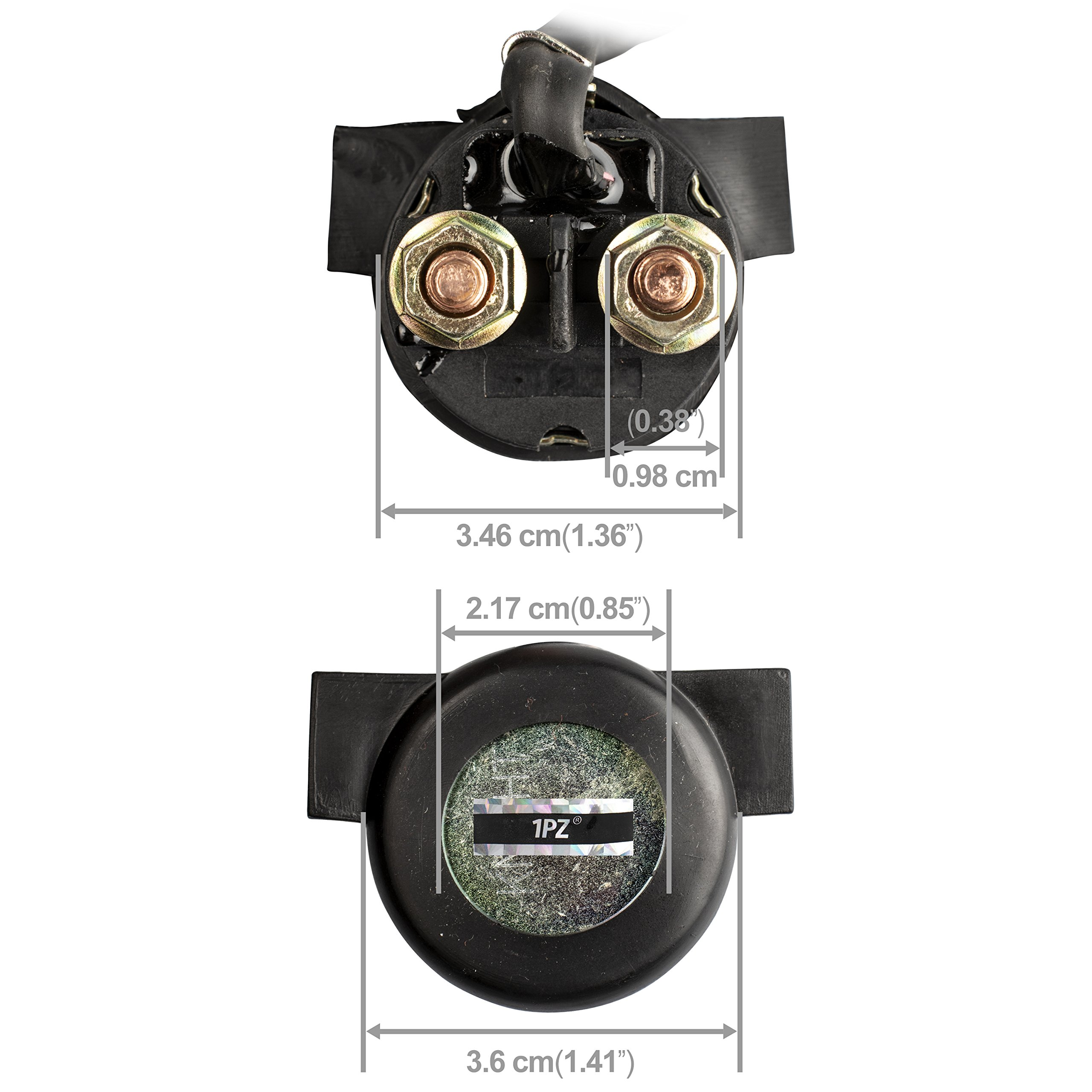 1PZ H25-S01 Premium Starter Solenoid Relay for Honda TRX250EX TRX 250 EX Sportrax 2002 2003 2004 2005 2006 2007 2008 by 1PZ (Image #2)