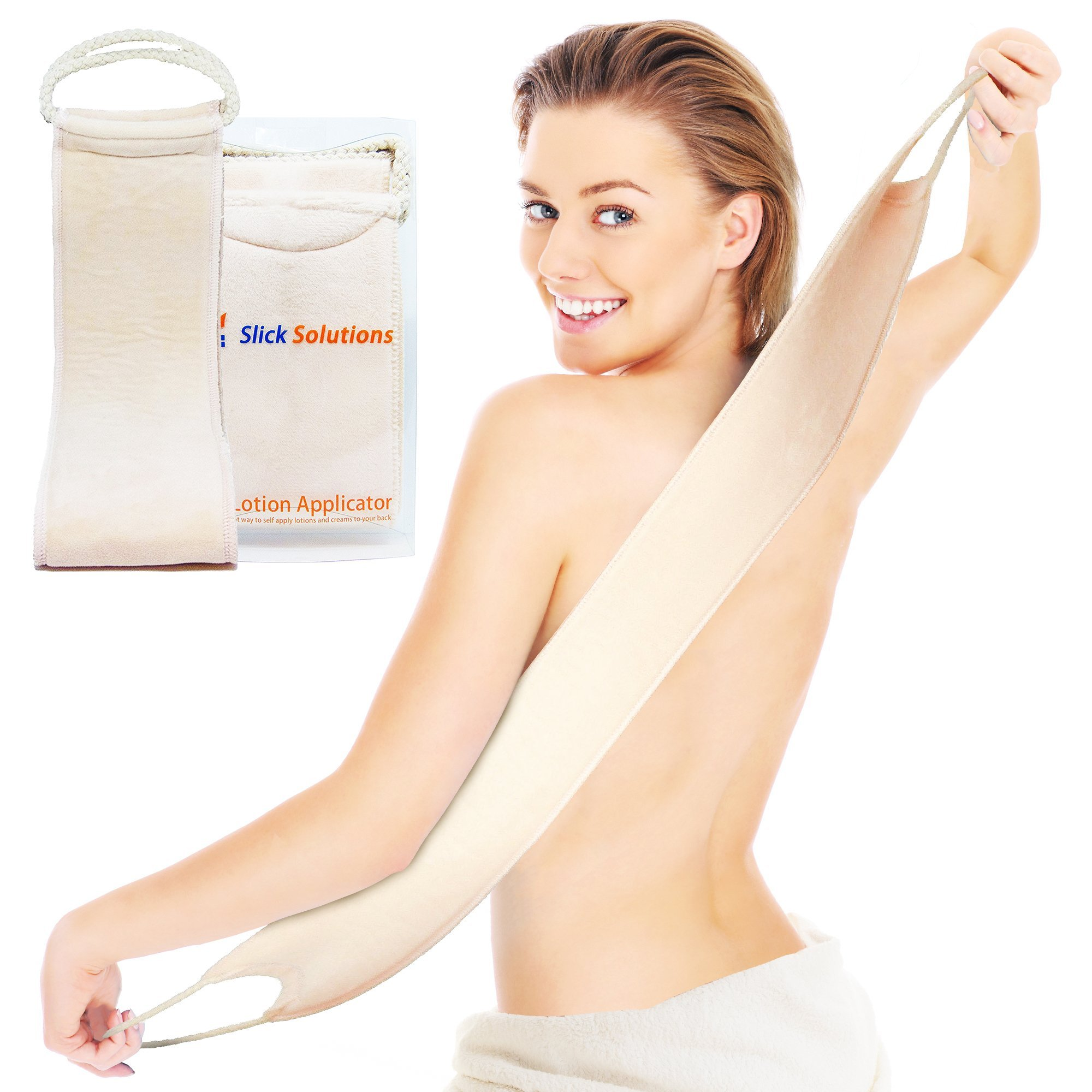 Lotion Applicator for Back - Easy Self Application of Lotions and Creams - Smooth and Even Application to Entire Back - Sun Tan Lotion Applicator